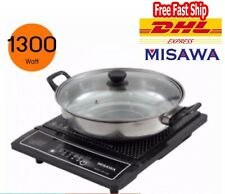 Electric Stove With Glass Lid Pot MISAWA Induction Cooker 1300w Model WP-2100