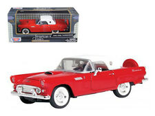 1:24 Ford 1956 Thunderbird (Red with White) - Motor Max American Classics 73312