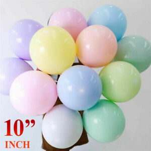 Pack of 100 Pastel Latex Balloons Macaron Candy Many Colour Party 10'' Balloons