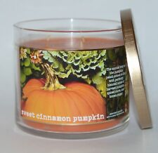 NEW BATH & BODY WORKS SWEET CINNAMON PUMPKIN SCENTED CANDLE 3 WICK 14.5 OZ LARGE