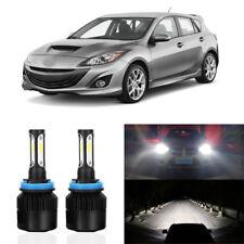 LED White Car Headlight 72W 8000LM Low Beam Bulbs 6500K For 2010-2016 MAZDA 3