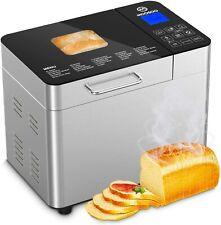 MOOSOO 25-in-1 Bread Machine , 2LB Stainless Steel Programmable Bread Maker US