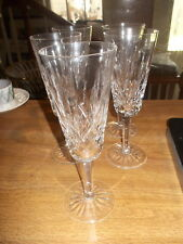 "Set of 5 WATERFORD 7.25"" Champagne Flutes - Vertical Cut on Bowl, Multi"