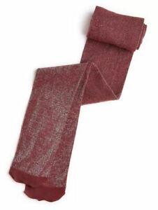 INC lurex shiny metallic women's tights -Burgundy/Andorra - XS S M L