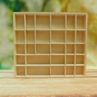 Plain Wooden Display Unit Display Shelves Trinket Shelf Compartment Printer Tray