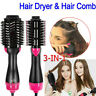 3 In 1 One Step Hair Dryer and Volumizer Brush Straightening Curling Iron Comb T