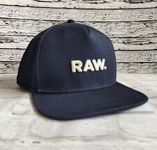 New G-Star RAW Men's Snapback Baseball Cap Blue