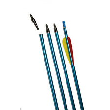 Archery Hunting Aluminum Arrows Practice Screw-in Tips Compound Recurve Bow 12pc