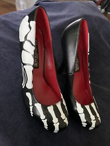 Pleaser Funtasma X-Ray-12 Stiletto Shoes High Heel Pumps NWOT Bones Skeleton NR