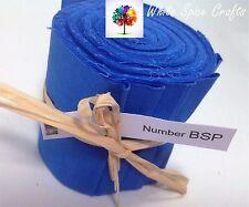 "10 X 2.5""x 45"" Deep BlueJelly Roll quilting binding edging BSP FREE POST AU"