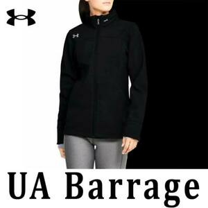 WOMEN UNDER ARMOUR UA BARRAGE JACKET SOFTSHELL WATER RESISTANT HOODED 1300270 M