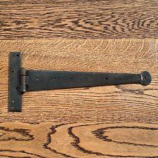 COPPIA da 18 Pollici T Cerniere Tee Cerniera Cinturino Cerniere Nero Vintage ferro battuto Penny