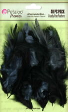 FEATHERS 40 per pack - GREY / BLACK - for Fascinator approx 6cm long Petaloo