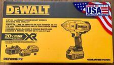 DeWalt DCF899HP2 20V MAX XR Brushless 1/2 Impact Wrench Hog Ring Anvil 2 Battery