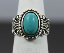 Avon Sterling Silver Turquoise Ring Size 7 1/4