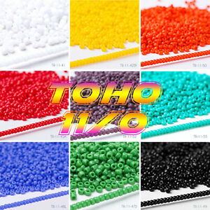 💖 11/0 💖 JAPANESE TOHO SEED BEADS 2MM BEST QUALITY EVEN SIZE 10G BAGS (1000)