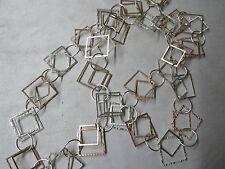 Halskette Collier Endloskette in 925 Silber und rosé vergoldet bi-color, 80 cm