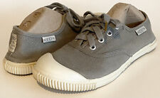 Keen Maderas Lace Up Oxfords Canvas Sneakers Shoes Vegan Neutral Gray US 6.5M