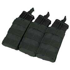 Condor MA27 BLACK MOLLE Triple Open Top M4 M16 AR15 Rifle Magazine Mag Pouch