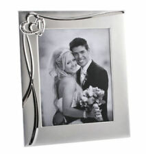 """Impressions  Silver Plated Hearts Silver Photo Frame 5x7"""" Slight seconds"""