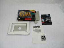 ILLUSION OF GAIA Super Nintendo SNES Authentic Box And Inserts NO GAME CART!