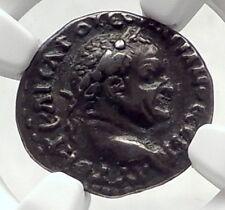 VESPASIAN Authentic Ancient Silver Caesarea Cappadocia Roman Coin NGC i72403
