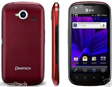 Pantech Burst P9070 RED AT&T Unlocked 4G LTE Andriod 2.3.5 WiFi 16GB Phone FAIR