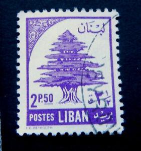 Lebanon Stamps   / 1954 / Cedars of Lebanon / Purple        /   Used