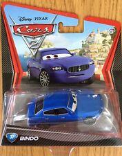 Disney Pixar Cars Bindo #37 Blue Eyes Diecast Blue Maserati  Xmas Present NEW