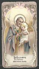 New listing Holy card antique de San Jose image pieuse santino andachtsbild