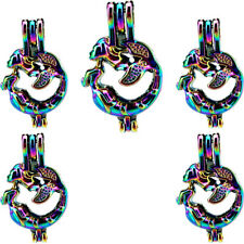 5X-C666 COLORFUL Mermaid Beads Cage Locket Charm Perfume Diffuser Pendant