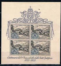 Vaticano. Hoja Bloque Centenario del sello. Valor 300 Euros