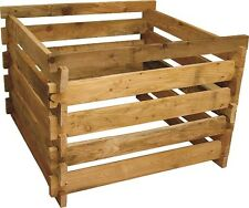 Holzkomposter aus Lärche 120x120x60cm Kompostbehälter Steckkomposter Komposter