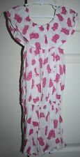 Girl's Handmade White And Pink Pineapple Playsuit Toddler Size 2-3
