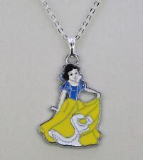 Aleación Esmaltado Blancanieves Princesa Colgante Plata Cadena Collar Chicas Fiesta Bolsa