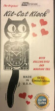 Kit-Cat Clock Black With Moving Eyes & Tail Vintage Wall Clock Made In USA