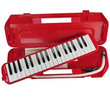 More details for premium 37 key melodica & hard carry case mouthpiece piano keys instrument gift