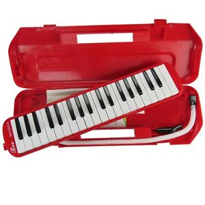 Premium 37 Key Melodica & Hard Carry Case Mouthpiece Piano Keys Instrument Gift