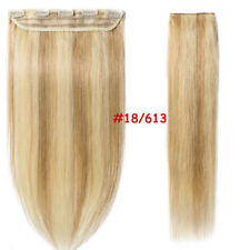 16-22inch ONE PIECE Clip in Human Hair Extensions 3/4FULL HEAD Real Remy US J103