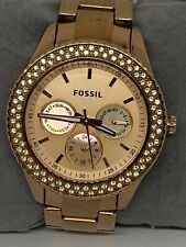 Fossil ES3003 Women's Gold Stainless Steel Analog Rose Dial Quartz Watch KG20