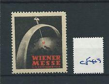 wbc. - CINDERELLA/POSTER - CF49 - EUROPE - WIENER   MESSE - 1948