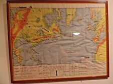 1995 AMERICAN AIRLINES Flight Path Map: Boston to London