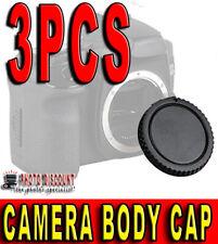 3X TAPPO CORPO MACCHINA FOTOCAMERA BODY CAP CAMERA PER CANON EOS 350D 400D 450D