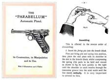 Parabellum  Manual c1925 (English) (9mm and 7,65mm Luger)