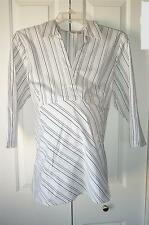 New PLUS Size DUO Maternity Black & White Striped Blouse 3X