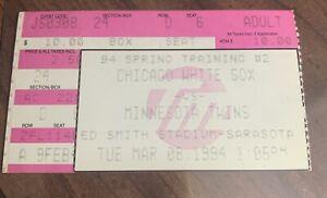 1994 Chicago White Sox Michael Jordan Spring Training Ticket Stub 03/08/1994 MLB