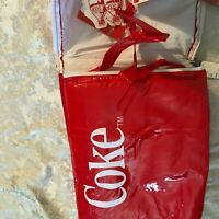 Vintage Coca Cola 2 Liter Canvas Cooler Bag Insulated Tote 0558C Red w Tags