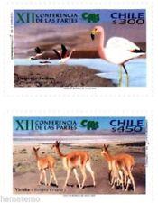 Chile 2002 #2121-22 XII Conferencia de Las Partes CITES MNH