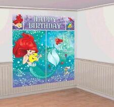 Little Mermaid Birthday Party Scene Setter Banner Over 6ft Tall *New Design*
