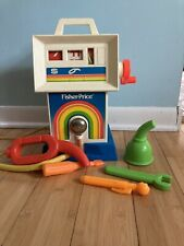Vintage 1983 Fisher Price Service Station Gas Pump no. 984  Not Working W/ Tools